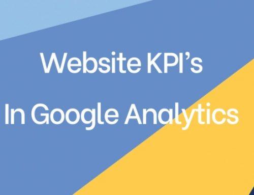 Website KPI's in Google Analytics